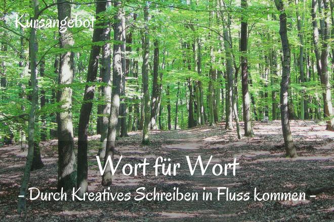 Bild: Grüner Wald mit Bäumen | Texte: Wort für Wort - Durch Kreatives Schreiben in Fluss kommen | Sabine Lowsky
