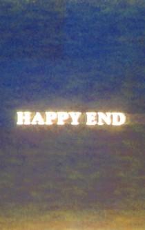 Der Schriftzug: Happy End.
