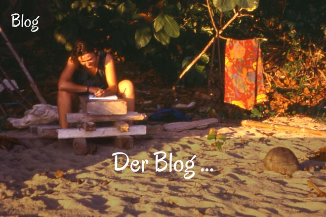 Bild: Schreibende Frau am Strand | Texte: Der Blog | Sabine Lowsky