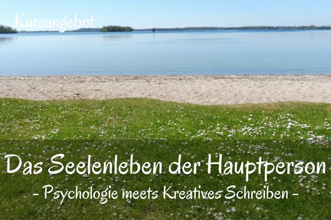 Bild: Wiese mit Blick auf einen Strand und das Meer | Texte: Das Seelenleben der Hauptperson - Psychologie meets Kreatives Schreiben | Sabine Lowsky